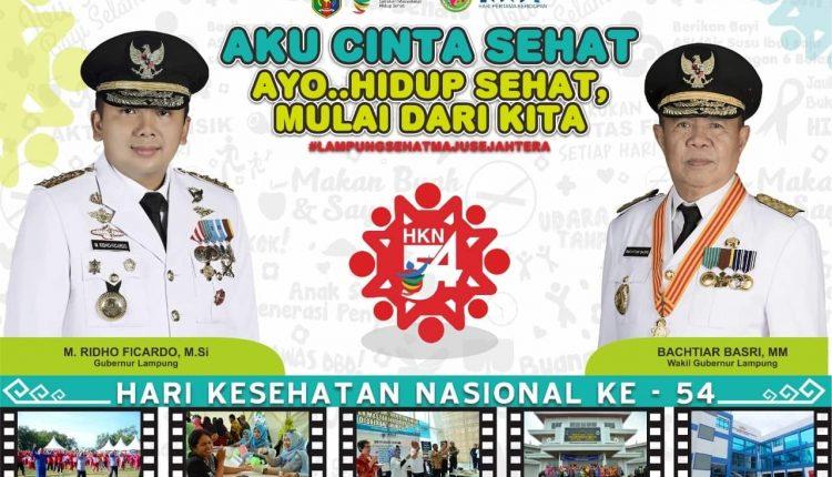 Sekretaris Daerah Provinsi Lampung, Hamartoni Ahadis Pimpin Peringatan Hari Kesehatan Nasional (HKN) ke 54 Tingkat Provinsi Lampung