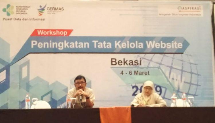 Dinkes Provinsi Lampung ikuti workshop peningkatan tata kelola website