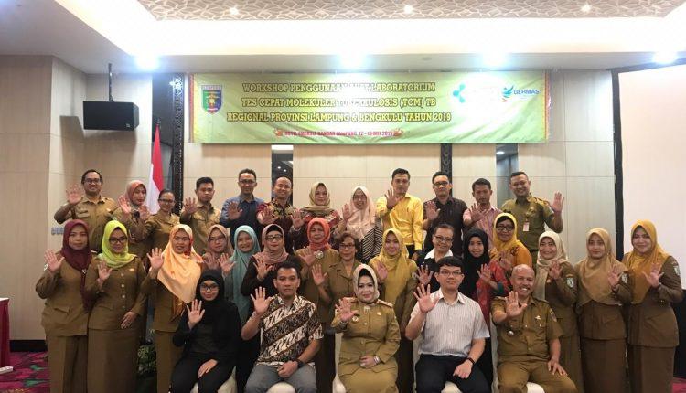 Dinkes Provinsi Lampung selenggarakan Workshop Penggunaan Alat Laboratorium Test Cepat Molekuler (TCM) Tuberkulosis, Regional Lampung dan Bengkulu