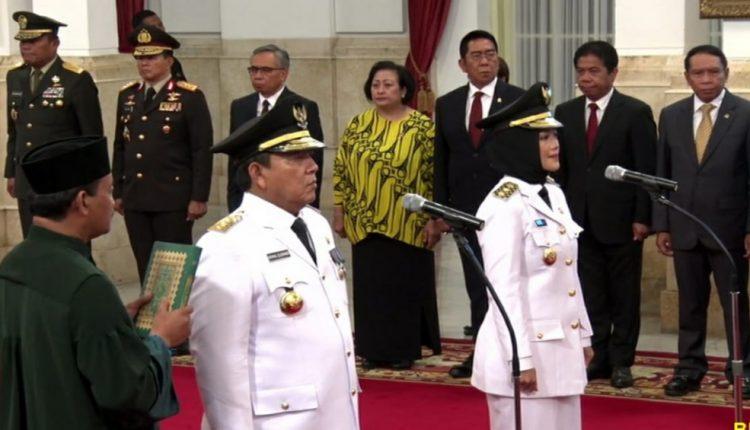 Arinal Djunaidi – Chusnunia resmi menjabat sebagai Gubernur dan Wakil Gubernur Lampung periode 2019 – 2024