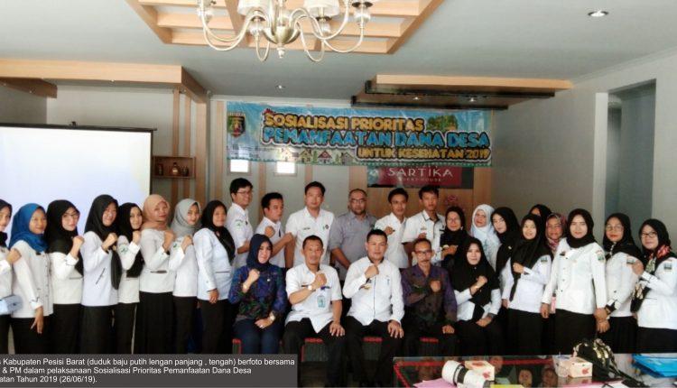 Pelaksanaan Sosialisasi Prioritas Pemanfaatan Dana Desa untuk Kesehatan di Provinsi Lampung