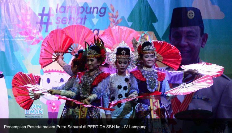 Malam Putra Saburai, Puncak acara PERTIDA SBH ke – IV Lampung