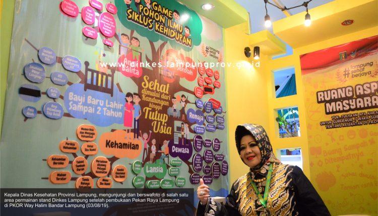Stand Dinas Kesehatan punya menu yang seru di Pekan Raya Lampung 2019