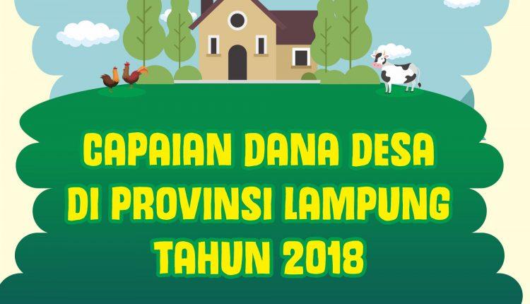 Infografis : Capaian dana desa di provinsi lampung tahun 2018