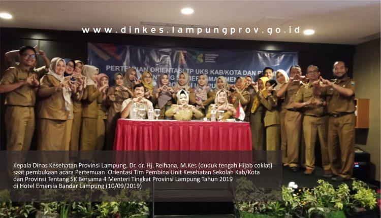 Dinkes Lampung Selenggarakan Pertemuan Orientasi Tim Pembina Unit Kesehatan Sekolah