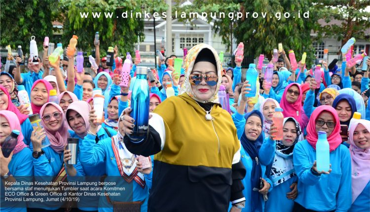 Komitmen Dinas Kesehatan Provinsi Lampung beserta Jajaran, Canangkan ECO Office dan Green Office