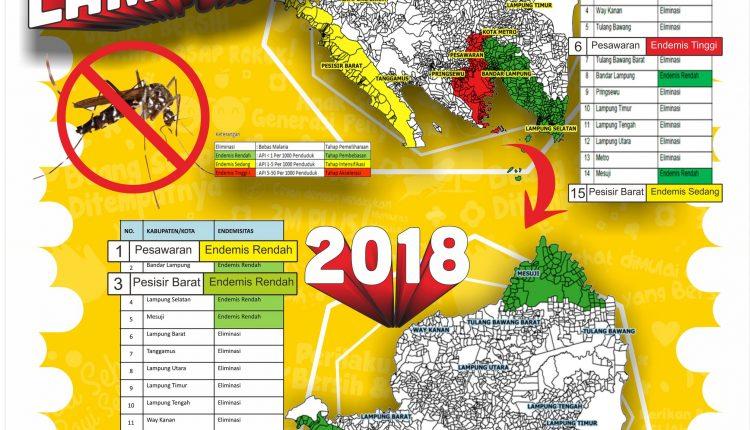 Peta Endemisitas Malaria di Provinsi Lampung