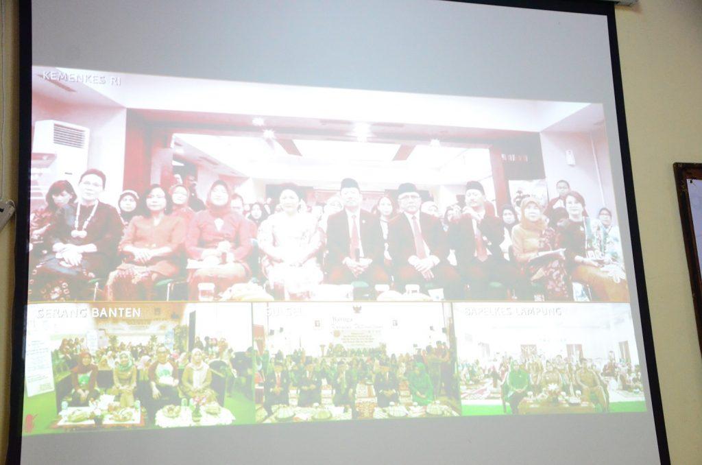 video conference menkes RI dengan jajran kesehatan provinsi Lampung