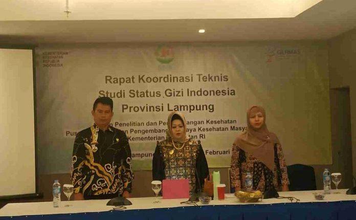 Kadinkes Provinsi Lampung buka Rapat Koordinasi Tekhnis Studi Status Gizi Indonesia (SSGI) Tingkat Provinsi Lampung