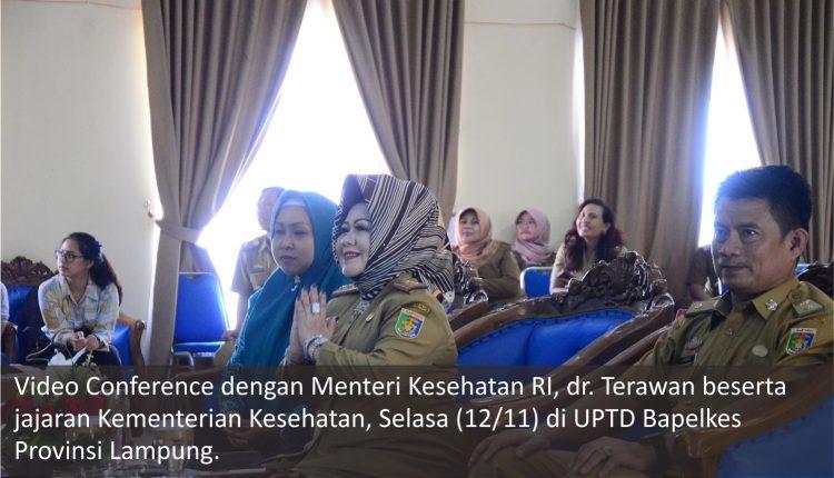 Video Conference Menkes RI, pada Kelas Ibu dan Balita di Hari Kesehatan Nasional ke – 55