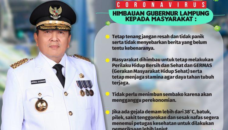 Infografis : Himbauan Gubernur Lampung Terkait Covid-19