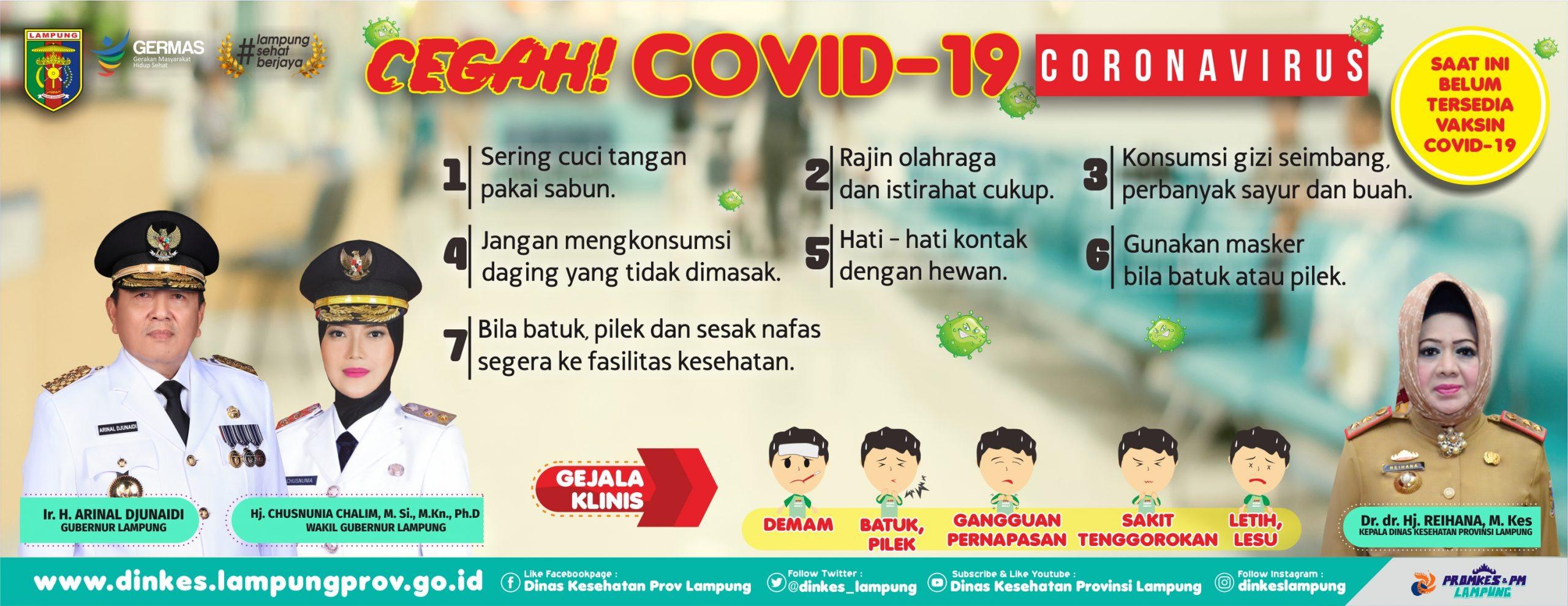 infografis Covid-19 dinas kesehatan provinsi lampung