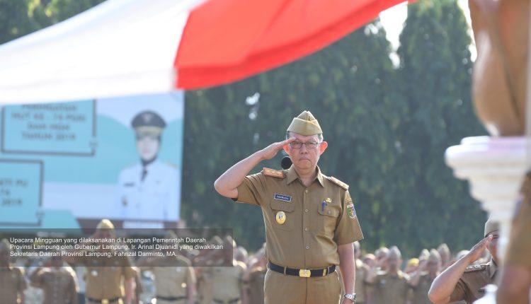 Upacara Mingguan, Gubernur Lampung Himbau Lakukan PHBS